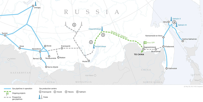 Gas pipeline Siberia